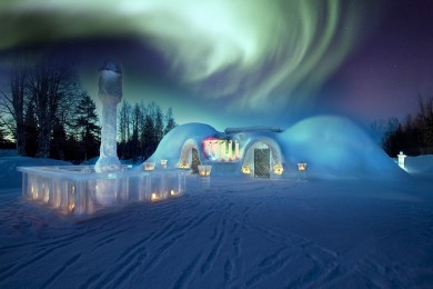 Laponia i hotele z lodu