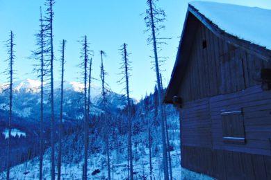 Droga nad Morskie Oko zimą